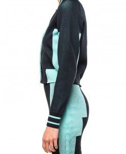 Cold Shoulder, knit varsity two piece by Alexander Wang-4038