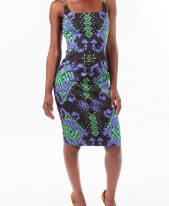 Wine Vines, print shift dress by Versace-3893