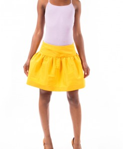 Yellow Full Mini Skirt