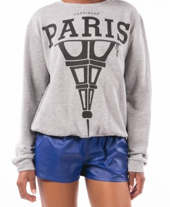 Tour Eiffel, Paris printed sweater by Happiness-4275