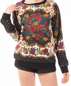 Pearls and Perfume, black printed sweater by MINKPINK-4279