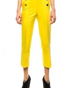 yellow high waisted capri