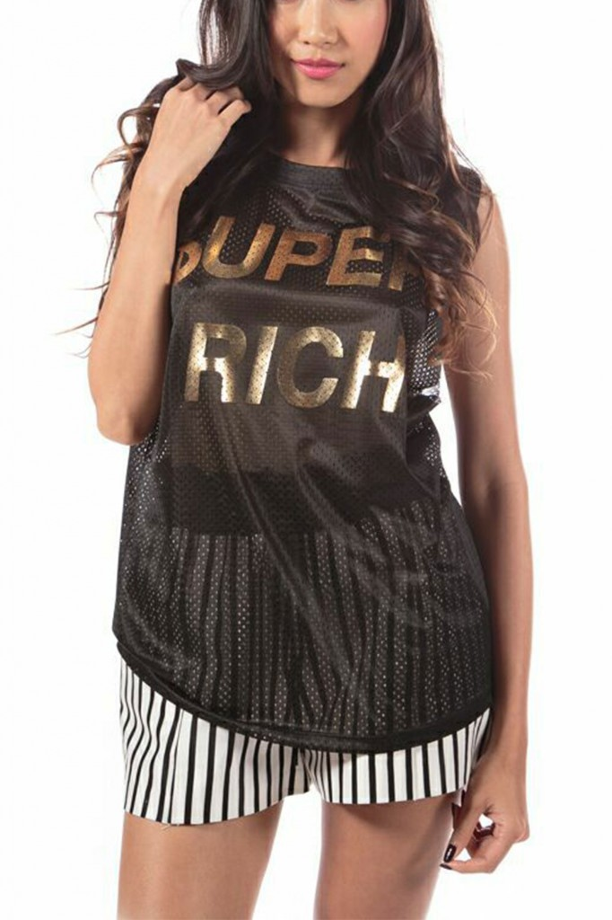 Super Rich, mesh gold logo tee by HoClo Rentals-4726