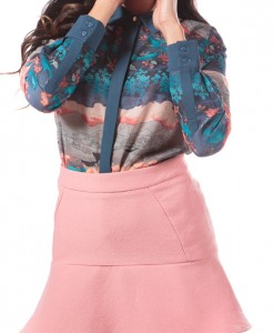 printed blouse by Pink Martini