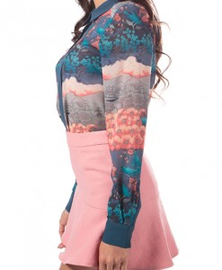 Amsterdam Dreams, printed blouse by Pink Martini-4105