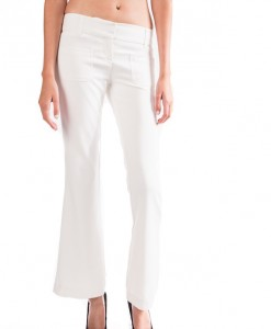 white seventies flare pant