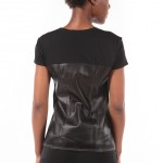 Body Armor, perforated black tee by BCBG MAXAZRIA-3987