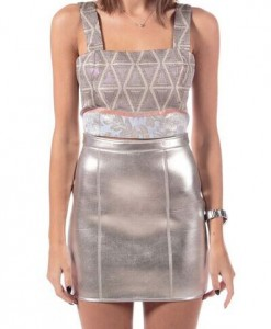 Silver Triangles, printed crop top by Suno-5186