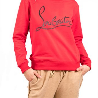 logo red sweater